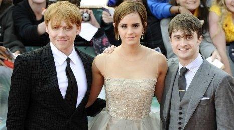 Rupert Grint, Emma Watson and Daniel Radcliffe.