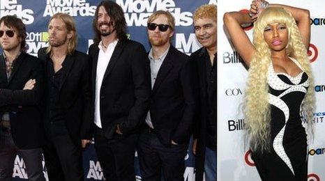 Foo Fighters and Nicki Minaj