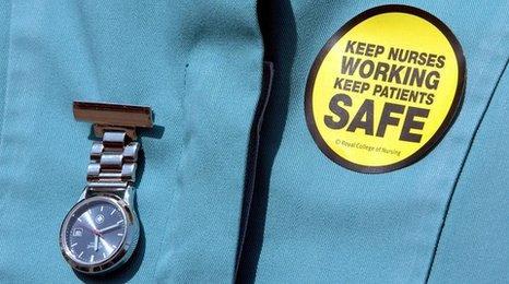 Nurses uniform with watch and sticker