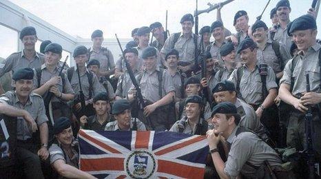Falklands soldiers