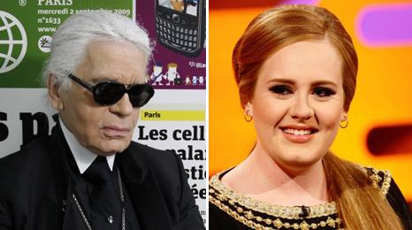 Karl Lagerfeld and Adele