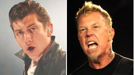 Alex Turner and James Hetfield