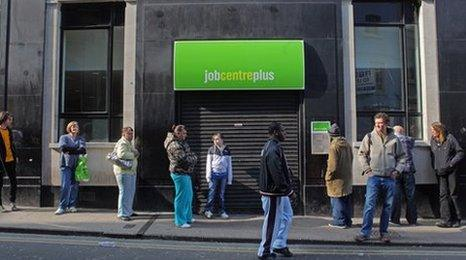 Job Centre Plus queue