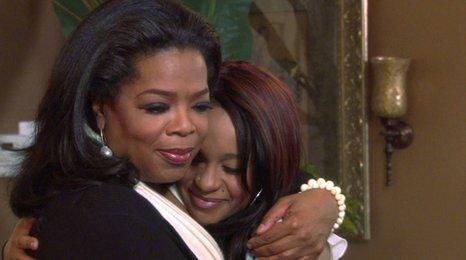 Oprah Winfrey and Bobbi Kristina