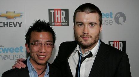 Mashable founder Pete Cashmore (right)with Zappos CEO Tony Hsieh