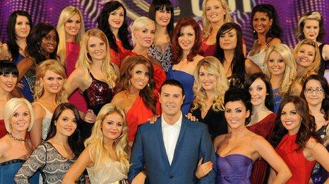Paddy McGuinness with some of the Take Me Out girls