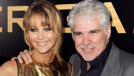Gary Ross and Jennifer Lawrence from The Hunger Games