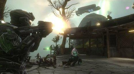 Character firing weapon in Halo: Reach