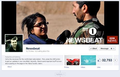 Newsbeat Facebook screengrab