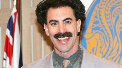 'Borat' star sends glorious offer to men arrested for wearing mankinis