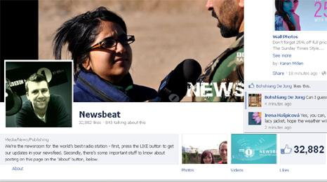 Newsbeat's Facebook page