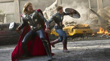 Thor and Captain America from Avengers