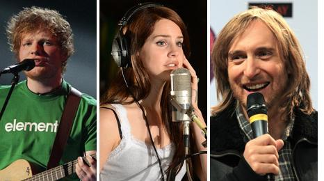 Ed Sheeran, Lana Del Rey and David Guetta