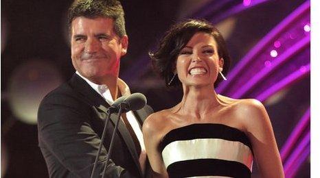Simon Cowell and Dannii Minogue