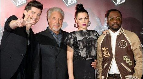 Danny O'Donoghue, Sir Tom Jones, Jessie J and Will.i.am