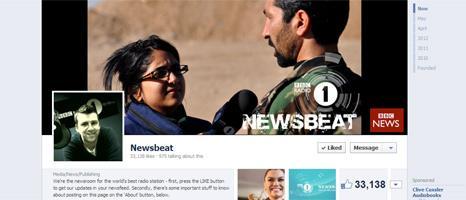 Newsbeat Facebook page
