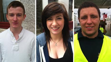 Matthew Williamson, Lauren Odie and Ross Gordon