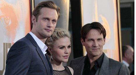 Alexander Skarsgard, Anna Paquin and Stephen Moyer