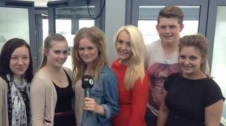 Students at Hylands School and Sixth Form College