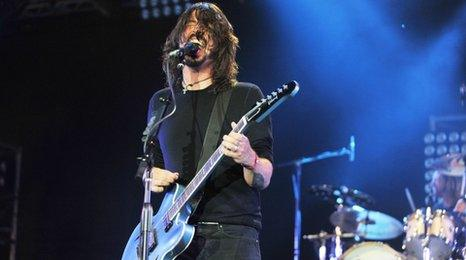 Dave Grohl from Foo Fighters