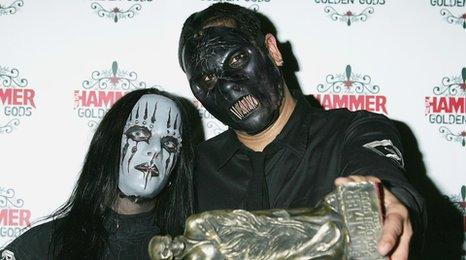 Joey Jordison and Paul Gray from Slipknot