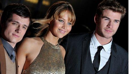 Josh Hutcherson, Jennifer Lawrence and Liam Hemsworth