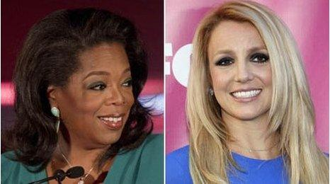 Oprah Winfrey and Britney Spears