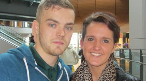 William Coulter, 23, and his girlfriend Michelle Brown, 20