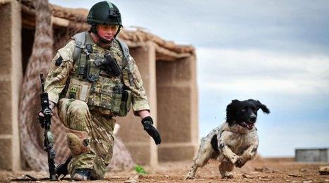 Lance Corporal Liam Tasker and Theo