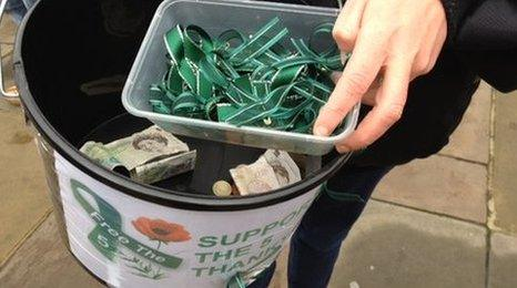 Donations are being given to the marines' families
