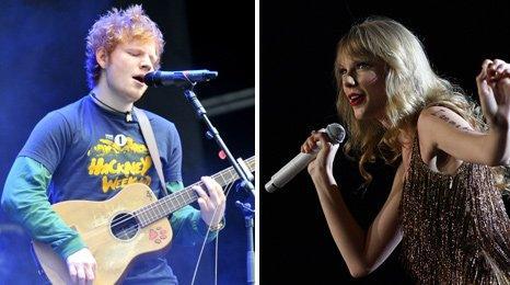 Ed Sheeran and Taylor Swift