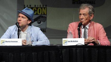 Martin Freeman and Sir Ian McKellen