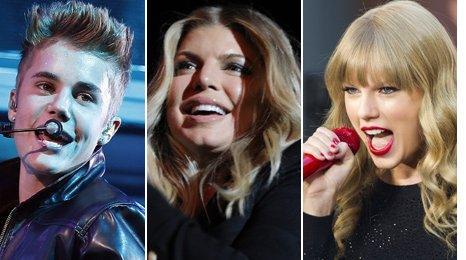 Justin Bieber, Fergie, Taylor Swift