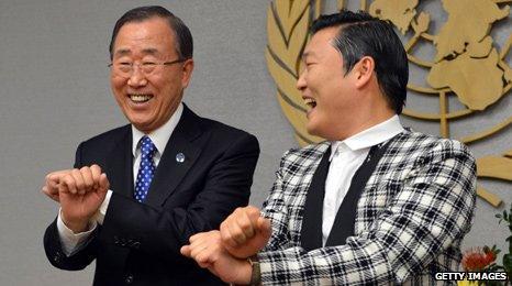 Psy and Ban Ki-moon