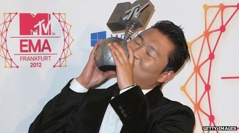 Psy at MTV EMAs
