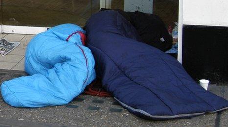 People sleeping rough