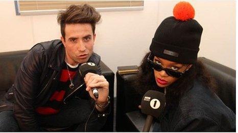 Nick Grimshaw and Rihanna