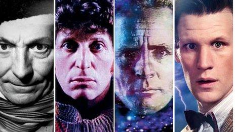 William Hartnell, Tom Baker, Sylvester McCoy and Matt Smith