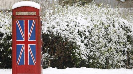 Red telephone box and Union flag