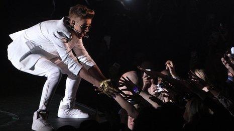 Justin Bieber on stage