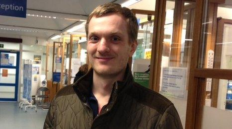 Thomas Smith, 26, is an environmental consultant and NHS patient