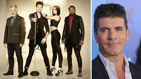 Tom Jones, Danny O'Donoghue, Jessie J, will.i.am and Simon Cowell