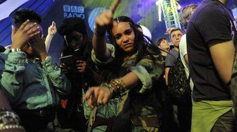 Fans at Radio 1's Hackney Weekend 2012