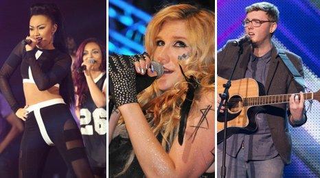 Little Mix, Kesha and James Arthur