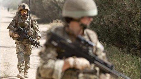 British troops on patrol in southern Afghanistan