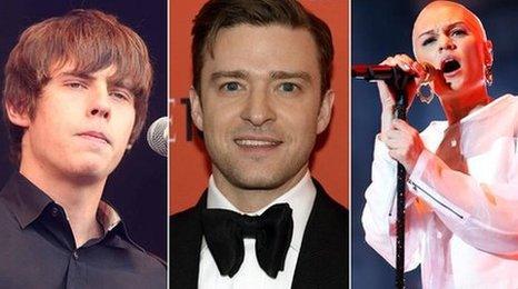 Jake Bugg, Justin Timberlake and Jessie J
