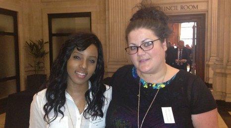 Alenah Dacosta and Vanessa Browne
