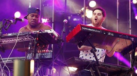 DJ Locksmith and Piers Agget from Rudimental
