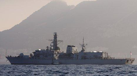 HMS Westminster arrives in Gibraltar