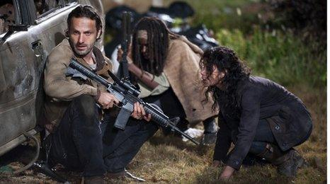 Andrew Lincoln, Danai Gurira and Melissa Ponzio